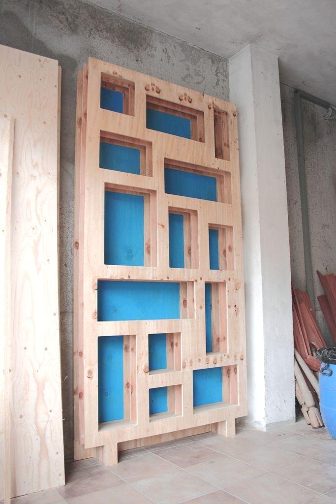 Plywood bookcase