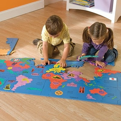 Best 25 world map puzzle ideas on pinterest boys airplane giant world map puzzles for kids sciox Image collections