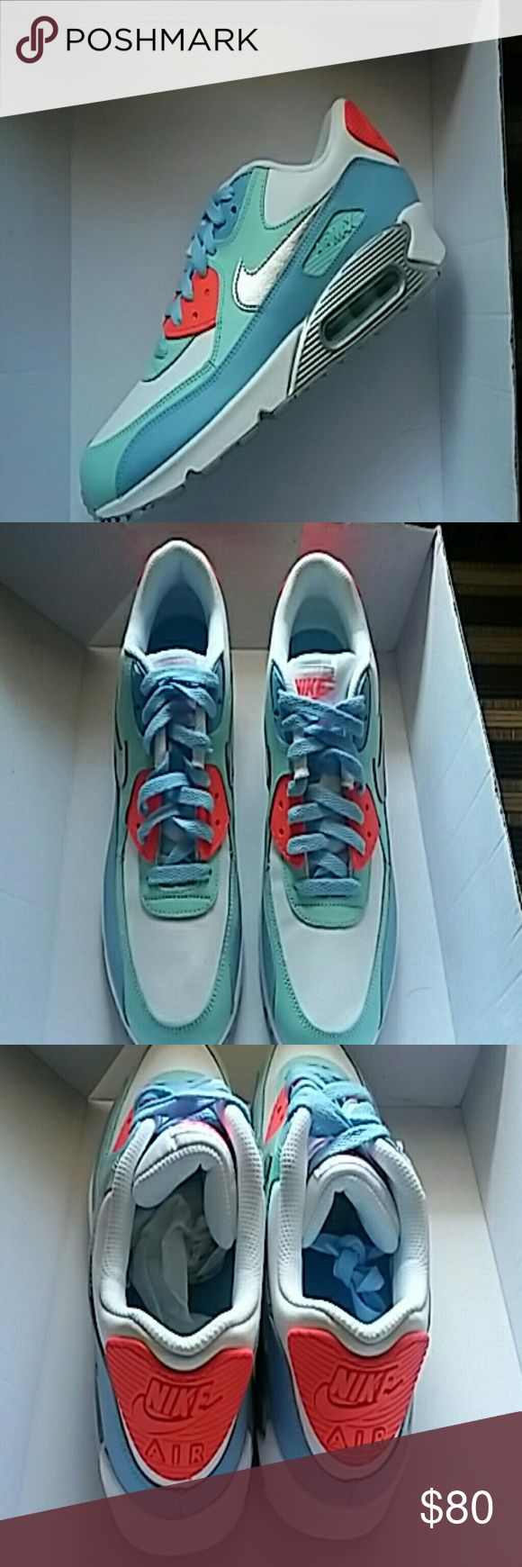 Nike Air max 90 LTR These are Nike Air Max 90 in youth size they are brand new original price is $85 comes with box original tissue and shoe stuffing can be shipped out same day bandeau two items and receive a discount Nike Shoes
