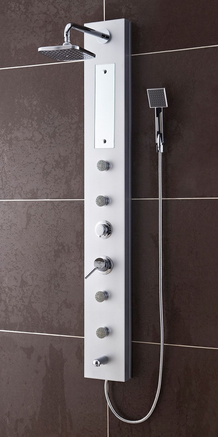 A shower panel can really take your morning cleaning routine to the next level. Instead of just a basic shower head you get 4 different water outputs: a large shower head that creates a rainfall effec