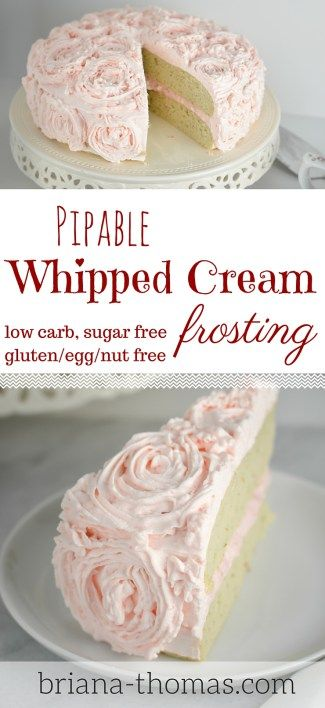 Pipable Whipped Cream Frosting...THM:S, low carb, sugar free, gluten/egg/nut free