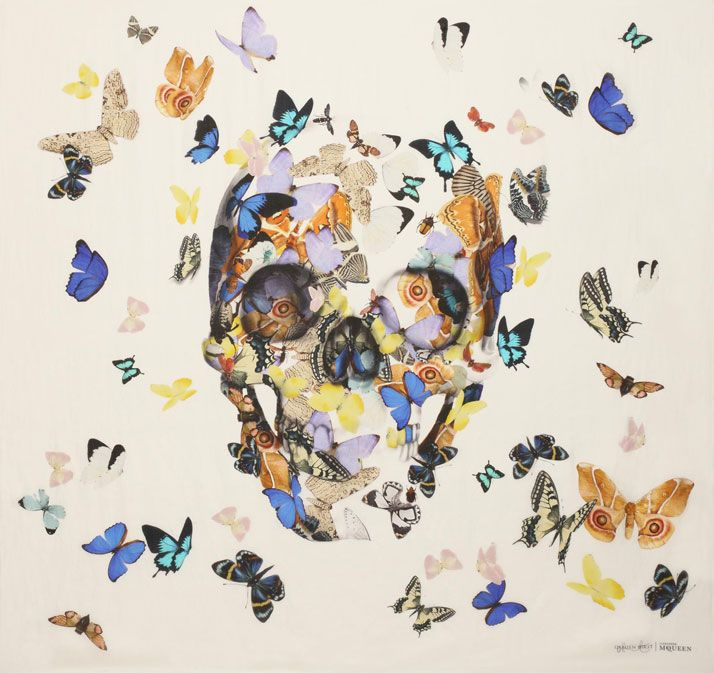 In Celebration Of The 10th Anniversary Of The Skull Scarf, Alexander McQueen Collaborates With Damien Hirst | Yatzer