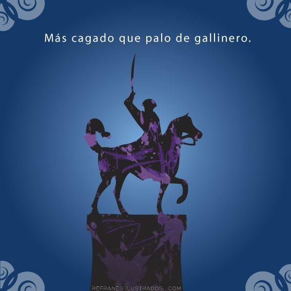 Más cagado que palo de gallinero. | http://tmblr.co/ZtwVgn1U3FNYt | #español #spanish #espanhol #spanisch #espagnol #espanol