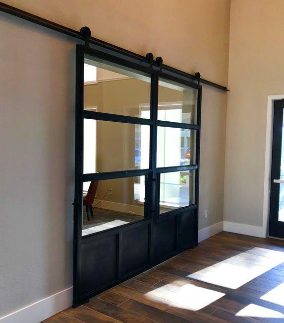 18++ Double sliding barn doors with glass ideas