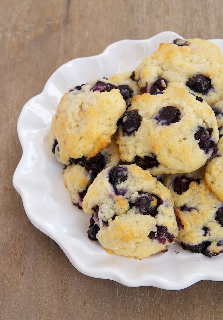 Blueberry Shortcake Cookies are soft, sweet cookies made with yogurt and packed with fresh blueberries!