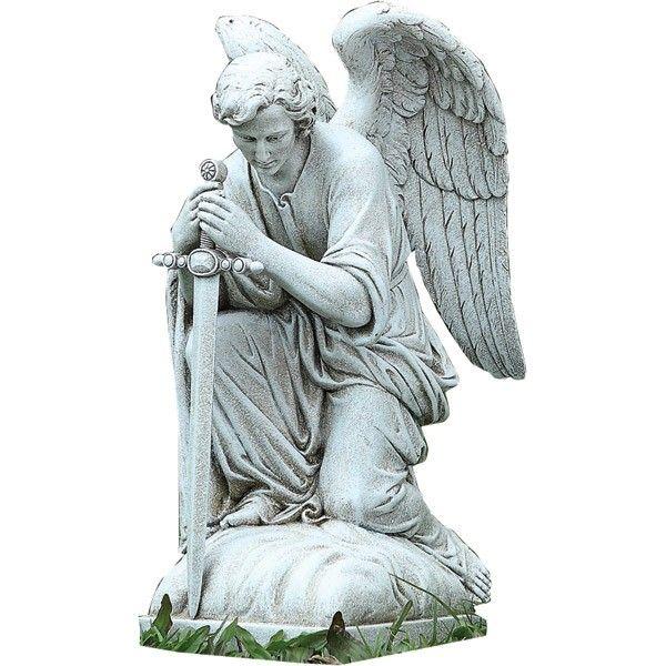 Kneeling Angel Outdoor Garden Statue