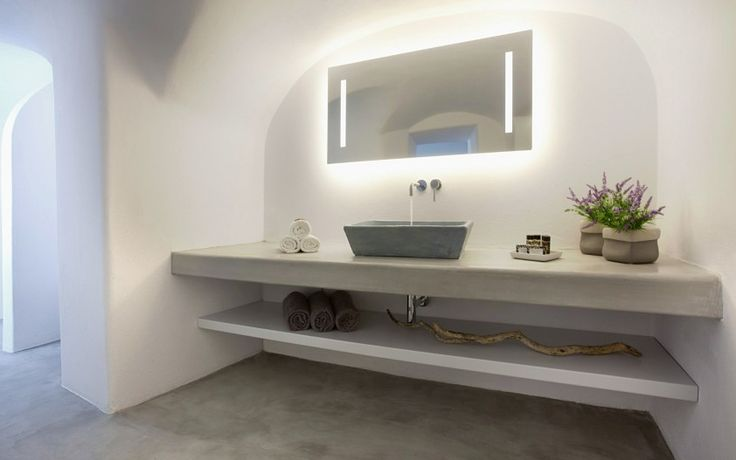 bathroom interior build in selves