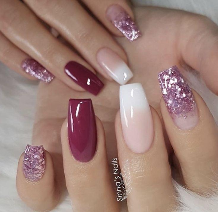 I Just Love Shiny Nails Like Dis Pinnerent Nail Designs Long Square Nails Glitter Gradient Nails