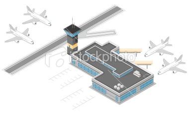 isometric airport graphic