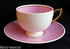 SHELLEY RARE VINTAGE CREAM PINK SYMPHONY ELY TEA CUP AND SAUCER ART DECO