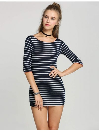 Women Striped Going Out Dress