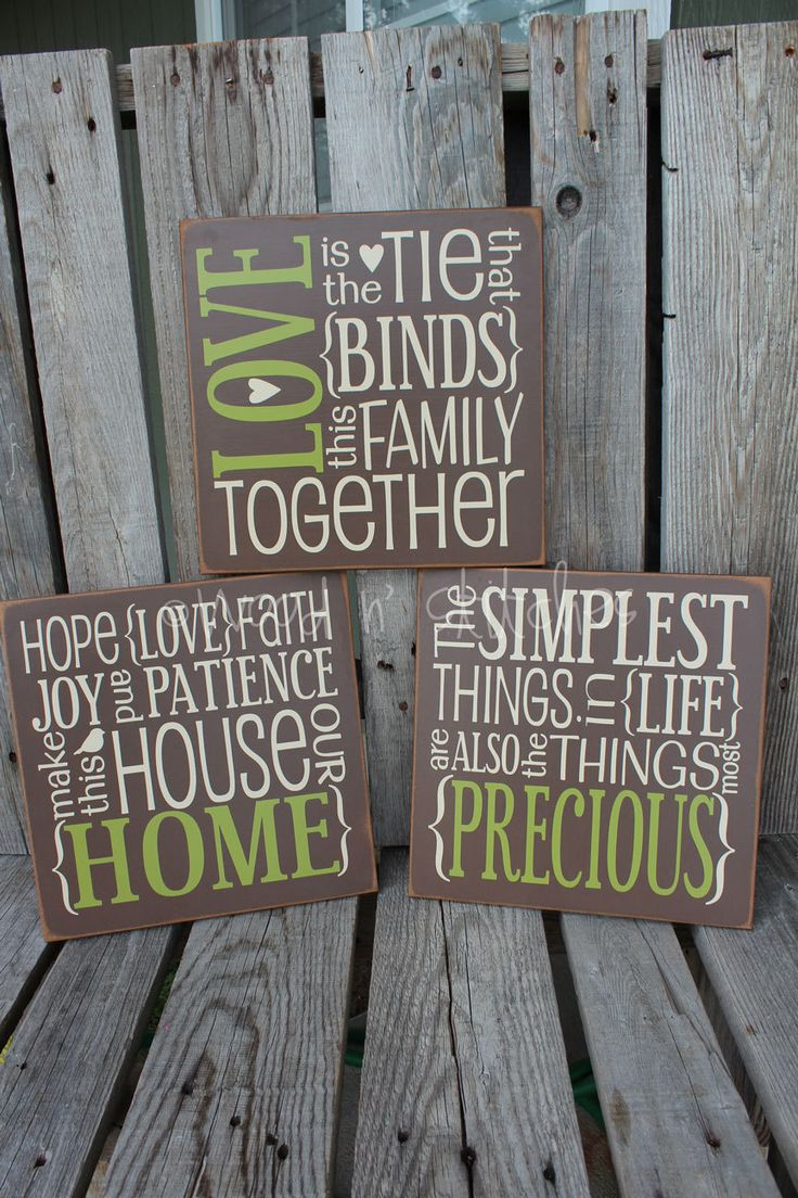 Primitive Love Family Home Wood Sign Family Wedding