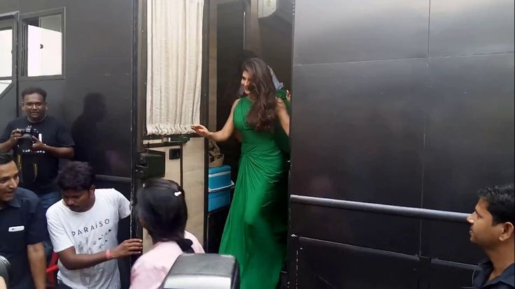 Jacqueline Fernandez Snapped At Mehboob Studio Shooting For An New AD