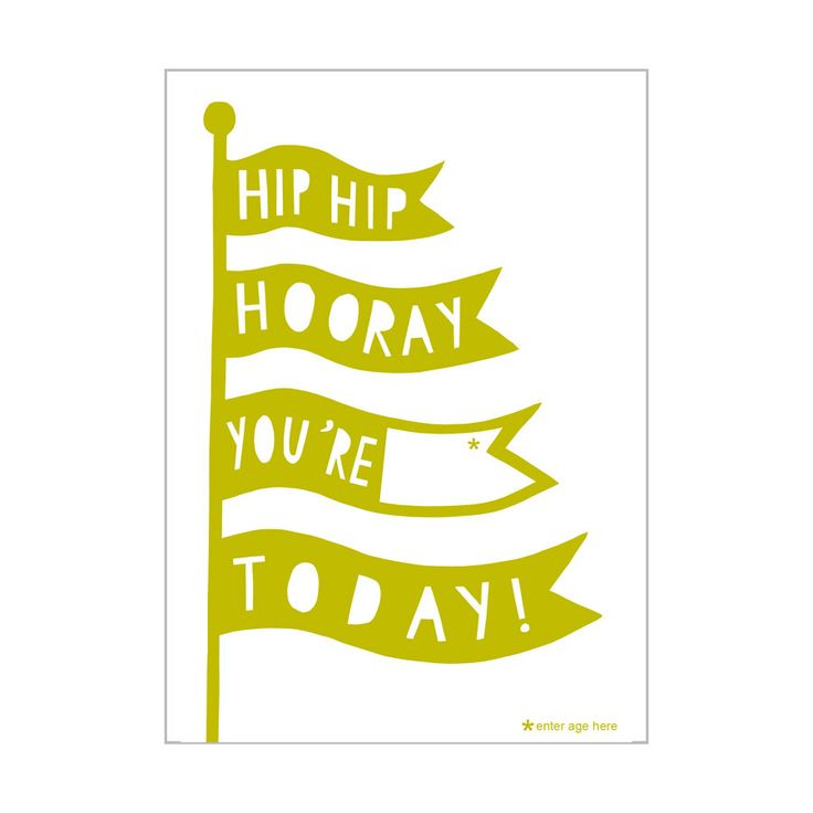 £2.10 A fun birthday card that is easy to personalise! A great card for kids and adults, simply write in the birthday boy/girl's name in the blank space! Designed by Alison Hardcastle, a British illustrator, designer and print-maker. Available online now!