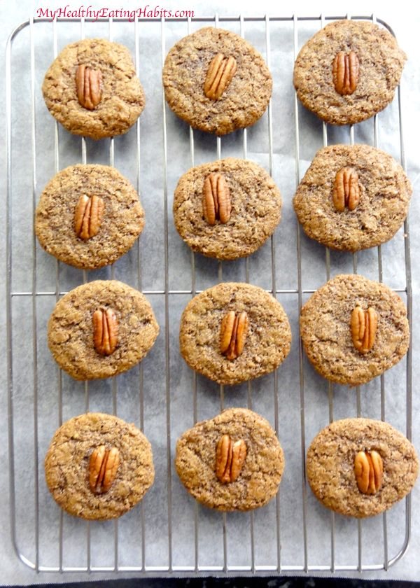 Flourless Pecan Sandies Cookies from My Healthy Eating Habits - Inspired by Ina ... how can you go wrong?!?!