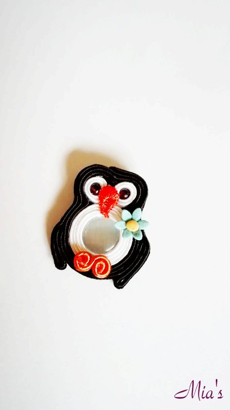 Soutache penguin brooch  #soutachepenguinbrooch