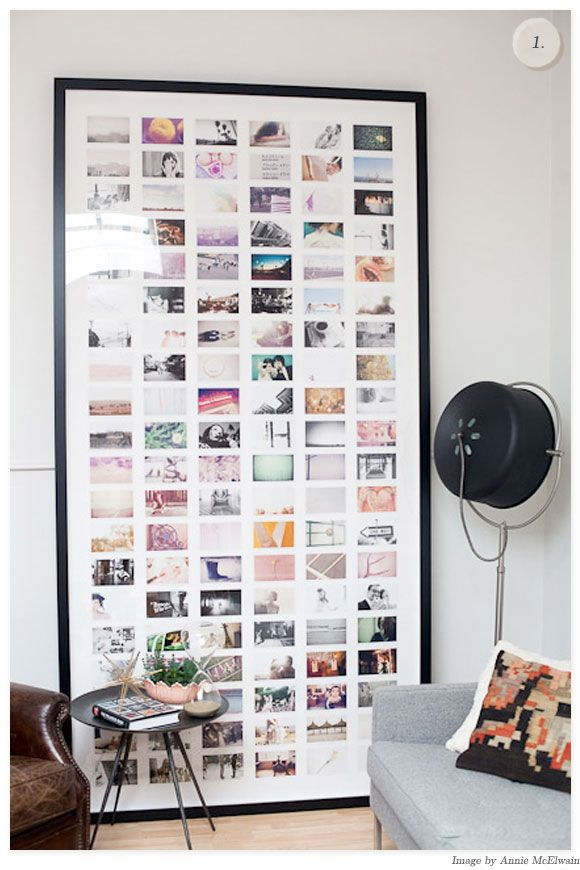 1. I was never really a fan of multi photo frames until I spotted This Beauty by Annie McElwain over On Pinterest (first featured on Design For Mankind). Isn't it incredible!