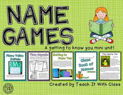Name Games {Back to School}