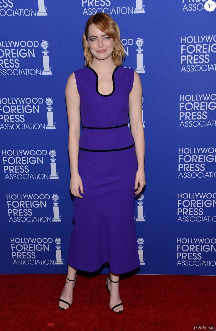 Emma Stone à la soirée annuelle du HFPA à l'hôtel Regent Beverly Wilshire à Beverly Hills, le 4 aout 2016