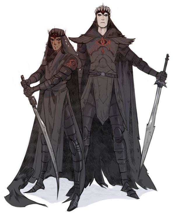 Angmar and Khamûl, two of the future Nazgûl