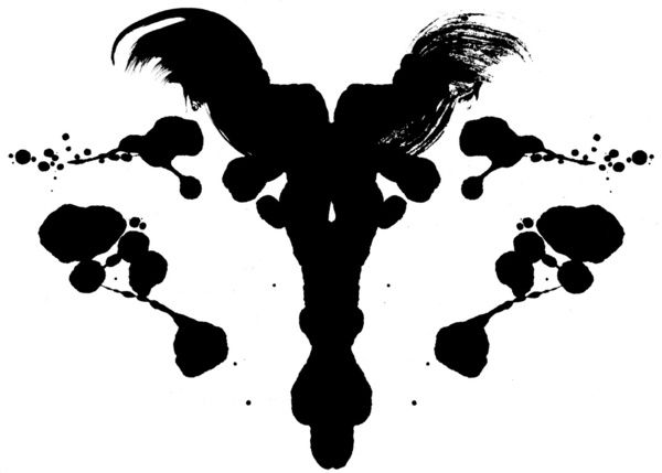 Rorschach Test Art Print by Ruth Chapa #art #print #blk