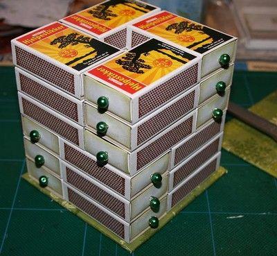 bricolage en boites allumettes