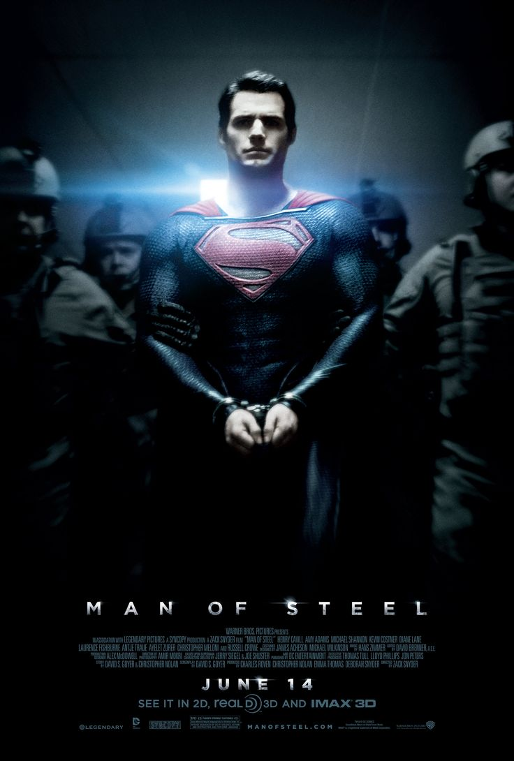 MAN OF STEEL. So excited for this. I wouldn't even care if this was a silent movie.  No sound needed.  Thanks, but as long as I can stare at Henry Cavill in this suit, I'm good!
