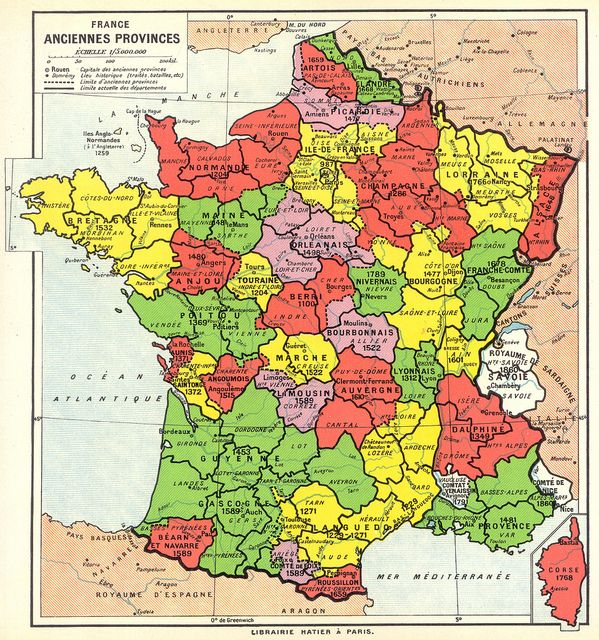 Map of France Ancient Provinces