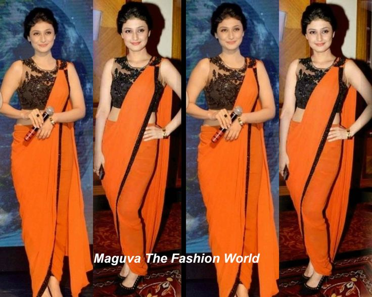 Tv Avtress Ragini khanna in orange plain saree    http://www.maguvathefashionworld.com/2014/08/tv-avtress-ragini-khanna-in-orange.html#.U-j1WMddWY8