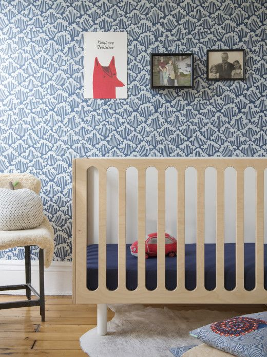 This Wallpapered Nursery Is Oh So Cute