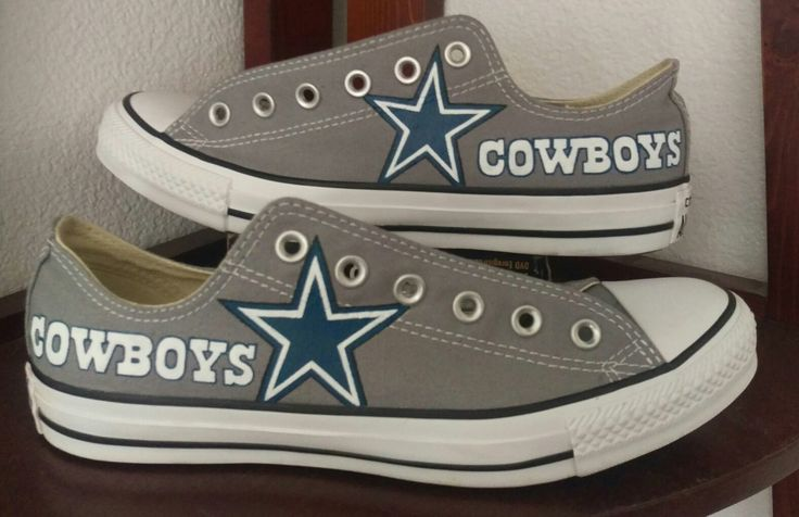 Hand painted Dallas Cowboy shoes #dallascowboys #dallas #cowboys #shoed #converse #nfl