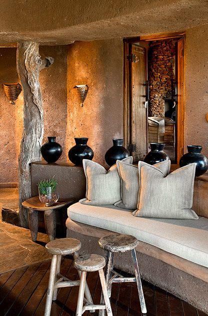 Lounge at Kopano #MadikweSafariLodge #MOREplaces #LuxurySafari #MalariaFreeSafari #KopanoLodge