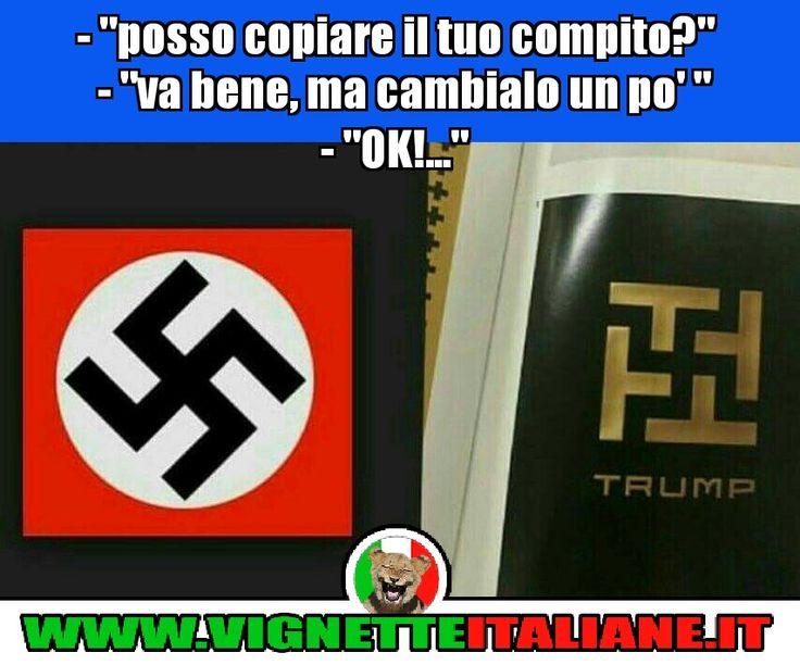 """""""Posso copiare il tuo compito?"""" """"Va bene, ma cambialo un po'"""" :D (www.VignetteItaliane.it)"""