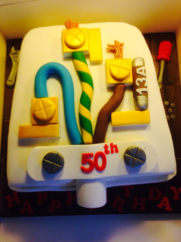 17 Best Images About Electrician Cakes On Pinterest