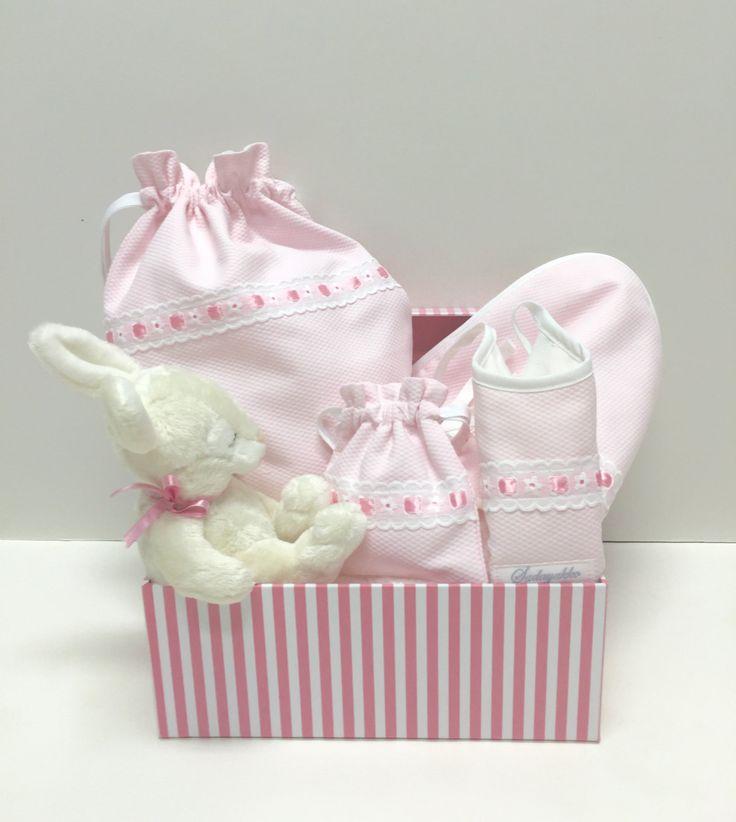 Canastilla para bebé 0-6 meses en rosa con pasacintas rosa de SADAYAKKO en Etsy