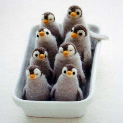 felt crafts penguins... So cute