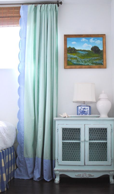 love these curtains and this color scheme via Grace Happens