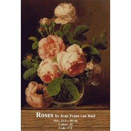 Needlepoint Cross Stitch Kit - Roses by Jean Frans van Dael