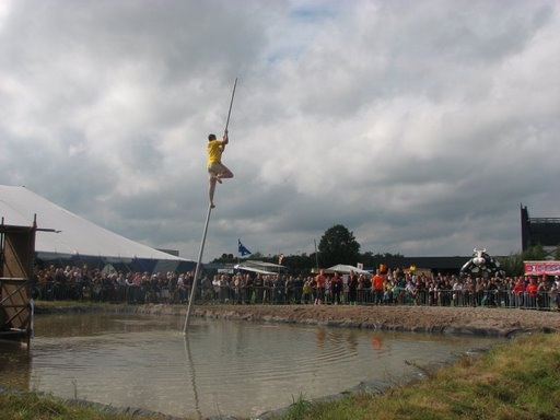 Fierljeppen (Canal Jumping) - picked this one up during my summer in Holland.