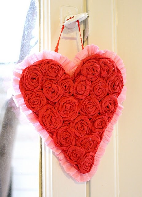 crepe paper heart
