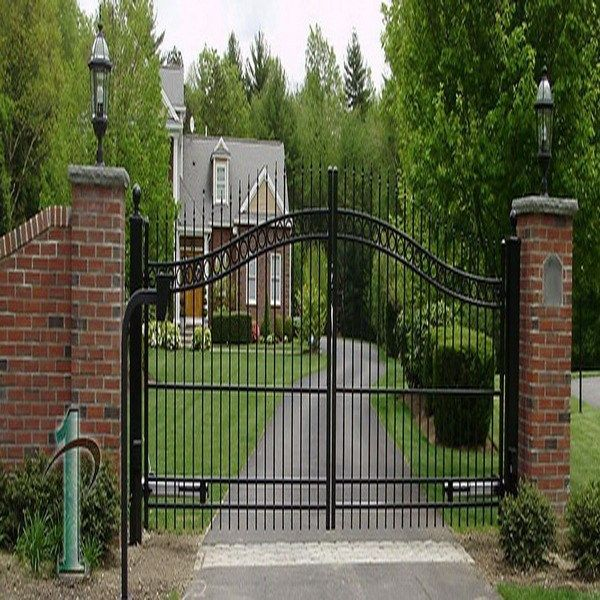 Low Price House Gate Design Outside Gates Front Yard Gate Residential  Folding Gate Photo, Detailed