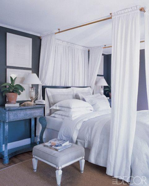 master bedroom - hamptonsOn A Budget, Dreamy Bedroom, Apartments Ideas, Dreams, Canopy Beds, Hang Curtains, Master Bedrooms, Canopies Beds, Apartments Decor