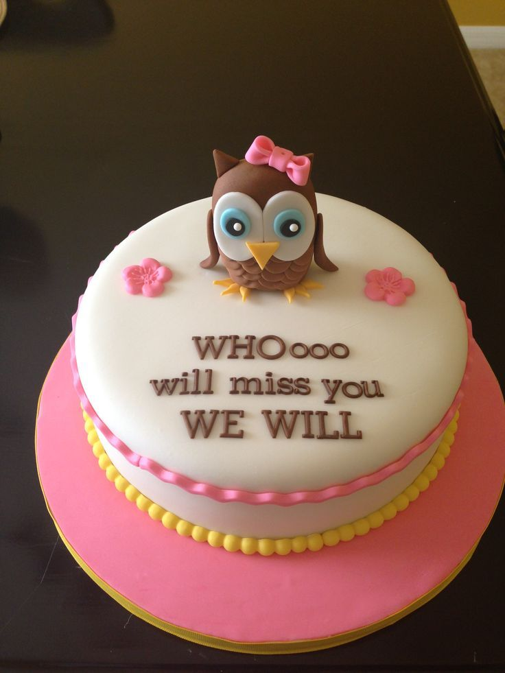 Cute Going Away Cake Ideas