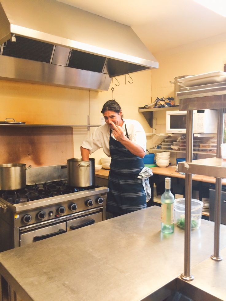 Colin in the kitchen