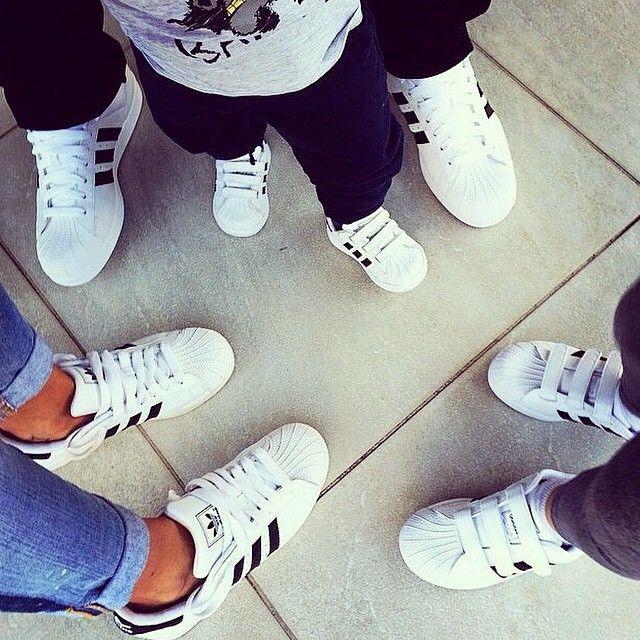 Sooooo gqna take a family pic like this...gotta rock the shell toes