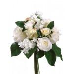 """11.5"""" Rose/Hydrangea Bouquet Two Tone Cream (Bulk 6 Bouquets): Rosehydrangea Bouquets, Bouquets Ideas, Floral Bouquets, Rose Hydrangeas Bouquets"""