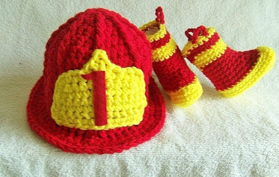 Firefighter Baby Helmet And Boots Newborn to by conniemariepfost