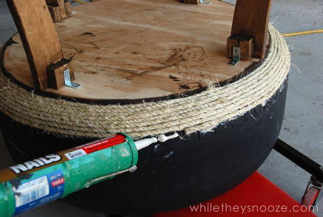 (1) Hometalk :: DIY Tire Table