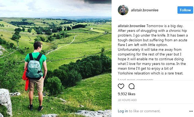 Alistair Brownlee will not compete again in 2017 after double Olympic triathlon undergoes hip surgery      Alistair Brownlee had been preparing to take on the Ironman series this year      However the 29-year-old confirmed on Instagram that he needs hip surgery     Brownlee won the gold medal in the Olympic triathlon in both 2012 and 2016
