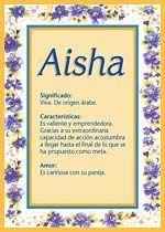 Aisha, El significado del nombre Aisha - TuParada.com
